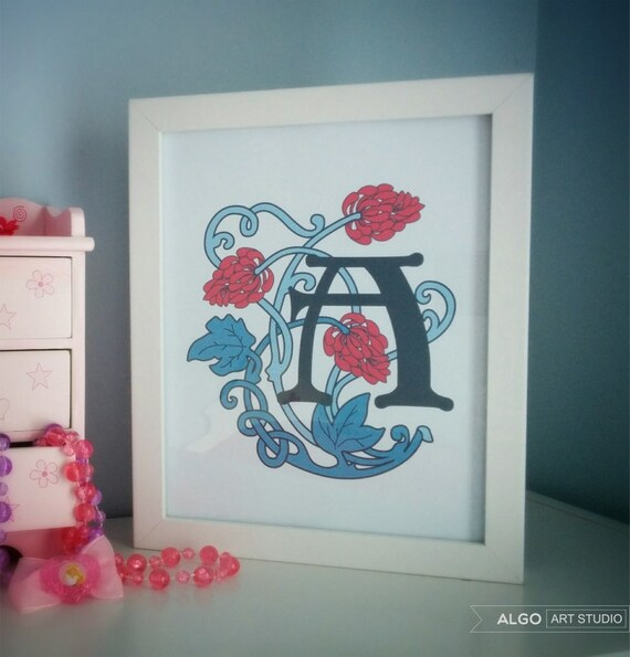 Monogram Wall Decor Diy : Diy personalized nursery wall art kids room children