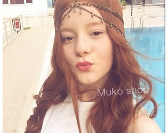 head piece, antique  head piece, New Head Chain Women Boho Style Hair Jewelry Fashion Headpiece,body chain