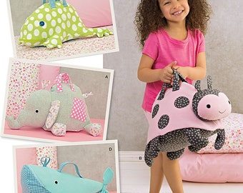 Simplicity Sewing Pattern 1084 Stuffed Animal Bags
