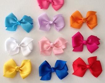 10 Piece Hairbow Set ~ 1.00 each ~ Starter Set ~ Multiple Colors