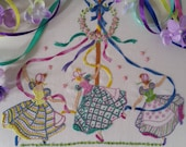 Transfer Embroiderey Kit : May Day Beautiful Embroidery Kits By Maggie Gee Needlework Studio