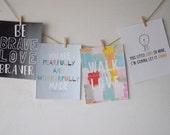 Kid Print Bundle--set of four 8x10 prints
