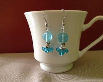 Earrings Blue Bubbles