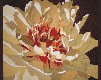 """Flower Textile Art """"Lumière d'Été"""""""