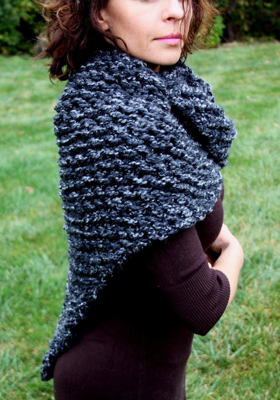 Pashmina Cowl Knitting Pattern : Sassenach Shawl Knitting Pattern Cowl Shoulder Wrap Chunky