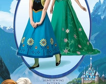 Simplicity Pattern 1094 Disney Frozen Costumes for Misses'