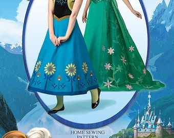 OUT of PRINT Simplicity Pattern 1094 Disney Frozen Costumes for Misses'