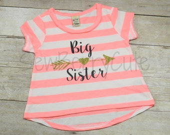 Big Sister Shirt Pregnancy Announcement Baby Shower Gift