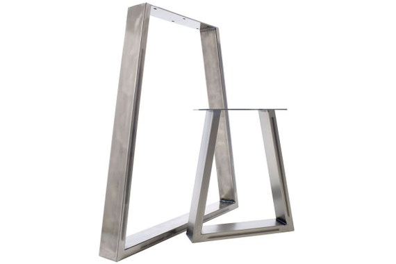 Table Legs - Trapezium Dining Pedestals in Industrial Steel