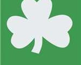 Shamrocks Handcrafted Applique House Flag