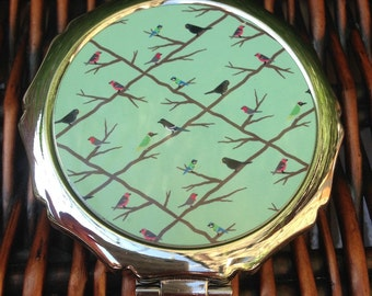 British birds compact mirror