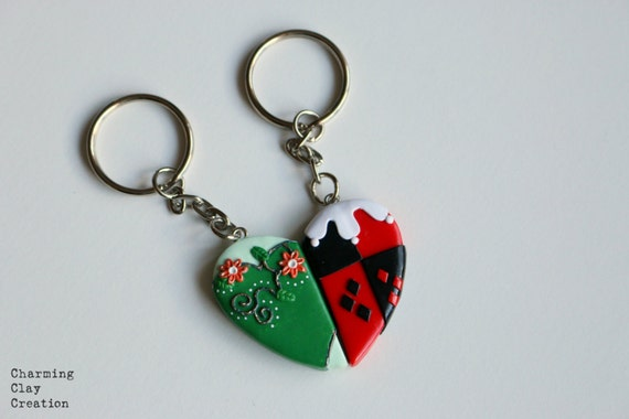 Poison Ivy and Harley Quinn Friendship Keyrings