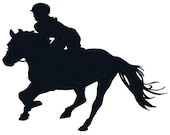 BUY 2, GET 1 FREE - Equestrian 9 English Rider On Horse Silhouette, Horseback Riding, Jockey, Horse Racing Machine Embroidery Design