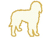 BUY 2, GET 1 FREE - Dog Breed Golden Doodle Goldendoodle Applique Machine Embroidery Design in 3 Sizes - 4x4, 5x7, 6x10
