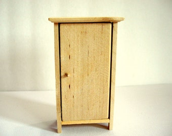 Dollhouse Kitchen Pantry Unfinished Pine Wood Dollhouse Furniture 1:12 Scale -