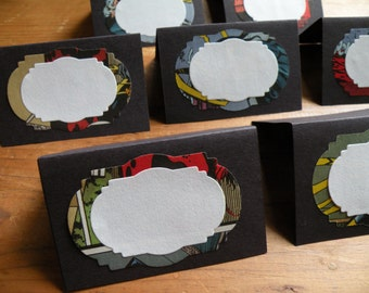 Comic Book Place Card - Seating Card - Escort Card - Banquet Card - Tent Card