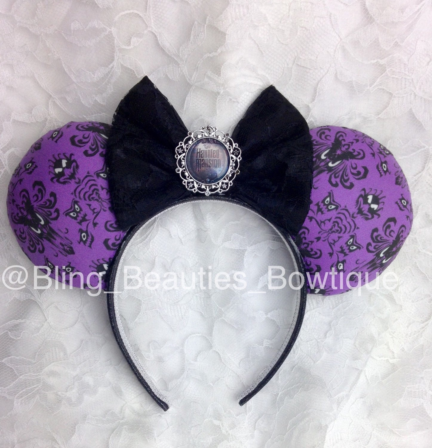 Disney Inspired Haunted Mansion Ears Minnie Mouse Ears