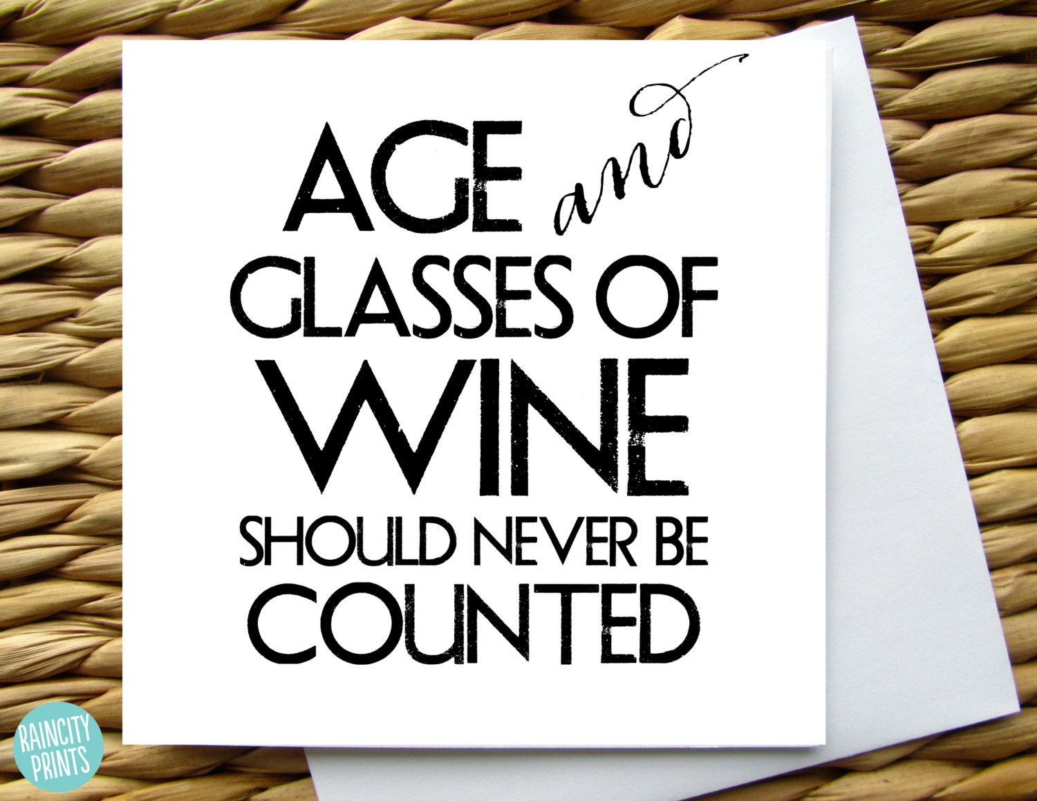 Wine Birthday Card Age and Glasses of Wine Should Never Be – Italian Birthday Card