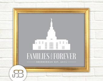 LDS Temple - Idaho Falls Idaho - Personalized Printable Design - PDF / JPEG File