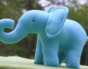 Blue Stuffed Animal Elephant