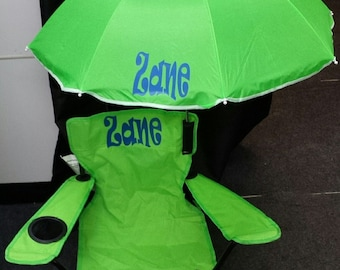 personalized kids camp chair