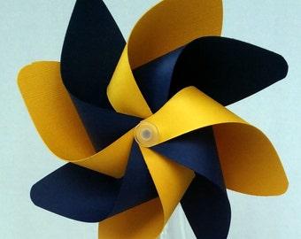Pinwheel, Blue & Maize Pinwheel