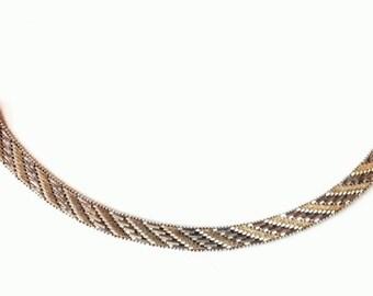 19 grams Vintage 925 sterling silver herringbone bracelet. solid silver, italy 925 silver, vintage bracelets, jewelry,vintage jewellery V20