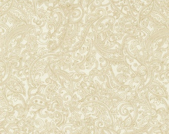 Tan Paisley Tone on Tone Fabric,                  Classique  Paintbrush Studios  #120-2911