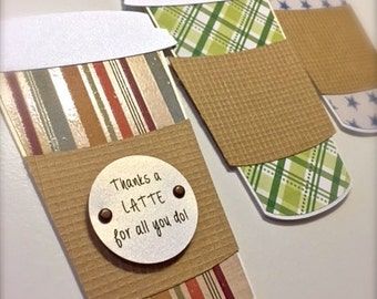 Thanks a Latte Gift Card Holder (Neutral) - Just Because - Coffee Gift Card Holder