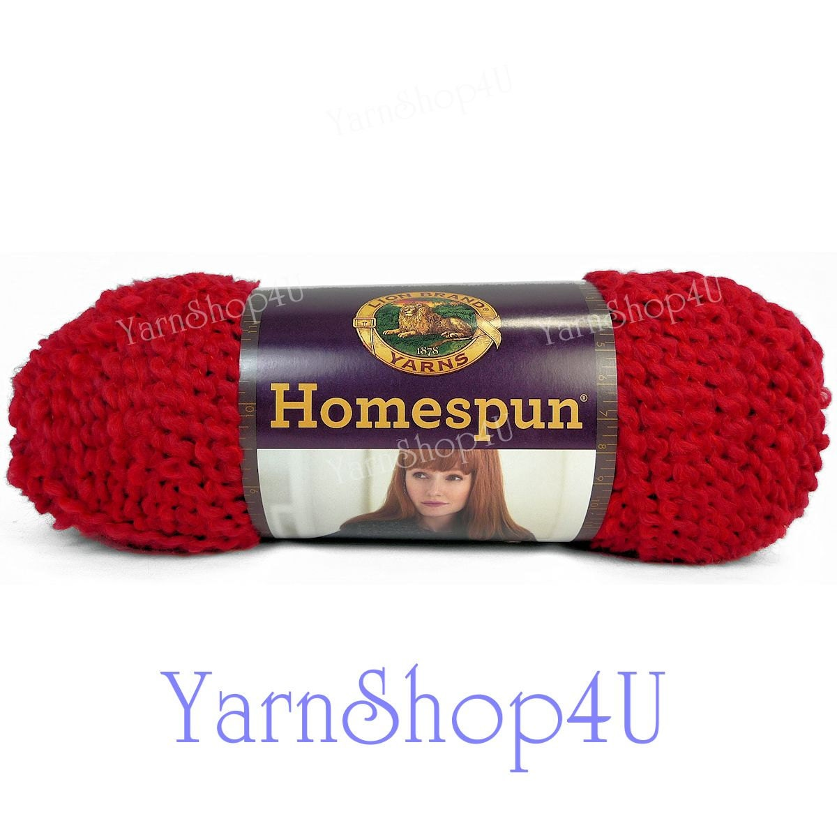 CANDY APPLE RED Homespun Yarn red yarn Lion Brand yarn