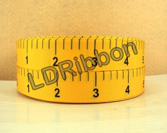 "7/8"" Measuring Tape Grosgrain Ribbon"