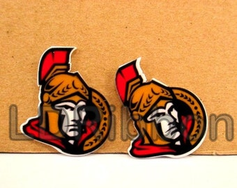 Senators Inspired Flat Back Resins (Set of 2)