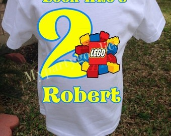 Birthday Boy Lego Shirt, Boy Lego shirt,  Lego  birthday shirt, Lego shirt.