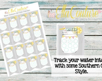 Water Tracker Stickers Southern Girl Style by Ella Couture by Jessica