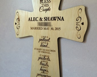 Personalized Wooden Wedding Cross!