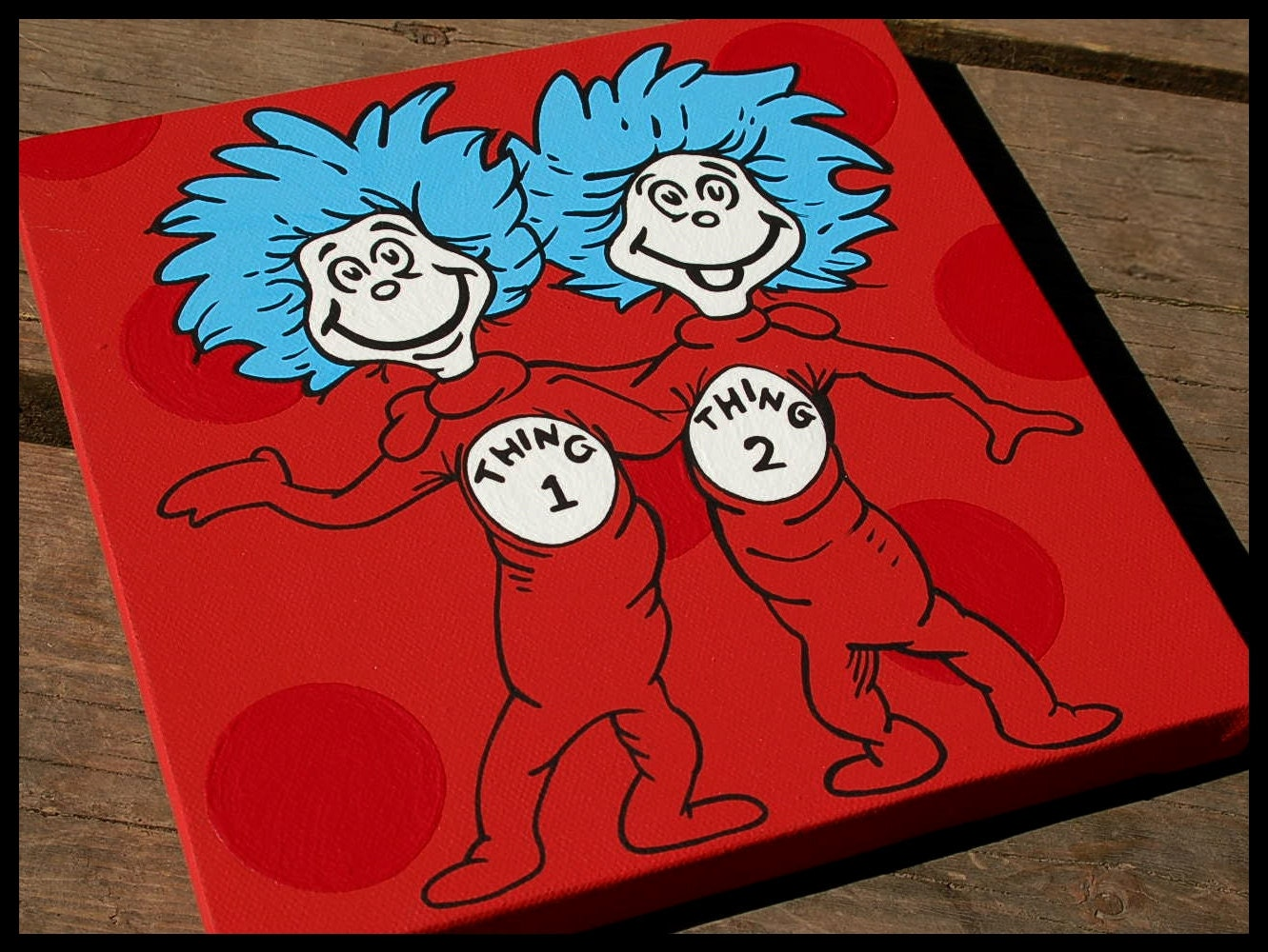thing 1 thing 2 12x12 dr seuss canvas wall art by. Black Bedroom Furniture Sets. Home Design Ideas