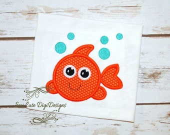 Bubble Fish Applique Design