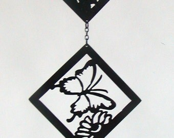 Metal Hummingbird, Butterfly, Dragonfly Wall Hanging or Free-Hanging Diamonds