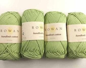 Rowan Handknit Cotton color Celery 309 green, cotton yarn