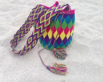 Rainbow Handwoven Colombian Bag