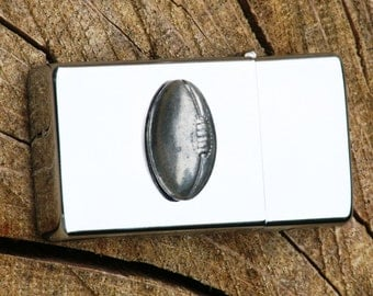 American Football Petrol Personalised Lighter Engraved Rugby Ball Gift