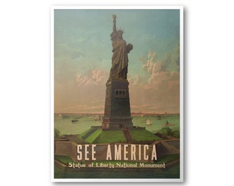 Statue Of Liberty National Monument - See America Print