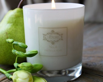 Adore No. 4 - Freesia & Pear Natural Scented Candle
