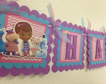 Doc McStuffins Banner, Doc McStuffins Birthday Banner, Doc McStuffins Birthday, Doc McStuffins Party, Doc McStuffins
