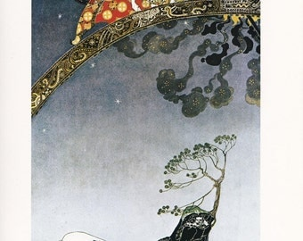 East of the Sun, West of the Moon Kay Nielsen vintage art nouveau print illustration Norwegian folk tale fairy tale 8.5x11.5 inches