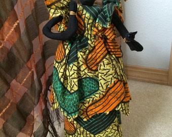 Handmade African Cloth Doll