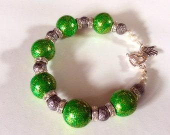 Green sparkly bracelet