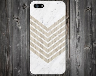 White Marble Chevron x Wood Design Case for iPhone 6 6 Plus iPhone 7  Samsung Galaxy s8 edge s6 and Note 5  S8 Plus Phone Case, Google Pixel