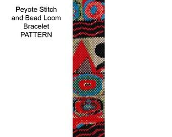 Bracelet Pattern for Loom Weaving or Peyote Stitch  - PP143