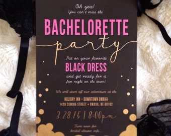 Bachelorette party invites!
